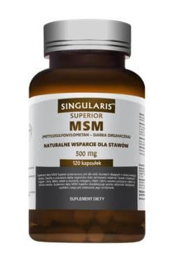 MSM 500mg  SUPERIOR (Stawy) 120 kaps