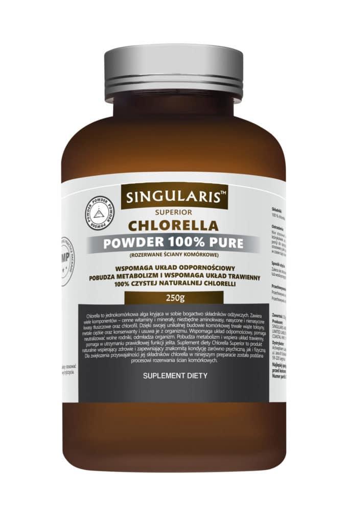 CHLORELLA POWDER 100% PURE 250g SINGLARIS SUPERIOR