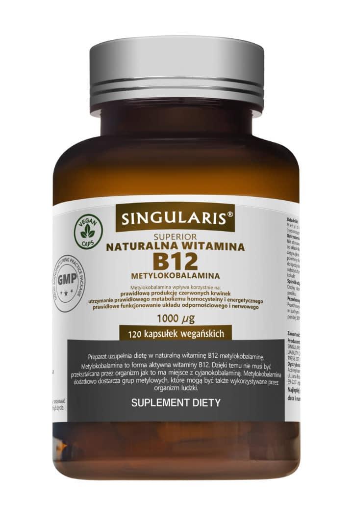 NATURALNA WITAMINA B12 1000 UG METYLOKOBALAMINA x 120 KAPS.