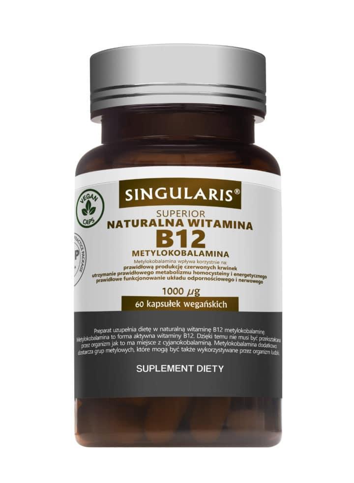 NATURALNA WITAMINA B12 1000 UG METYLOKOBALAMINA x 60 KAPS.