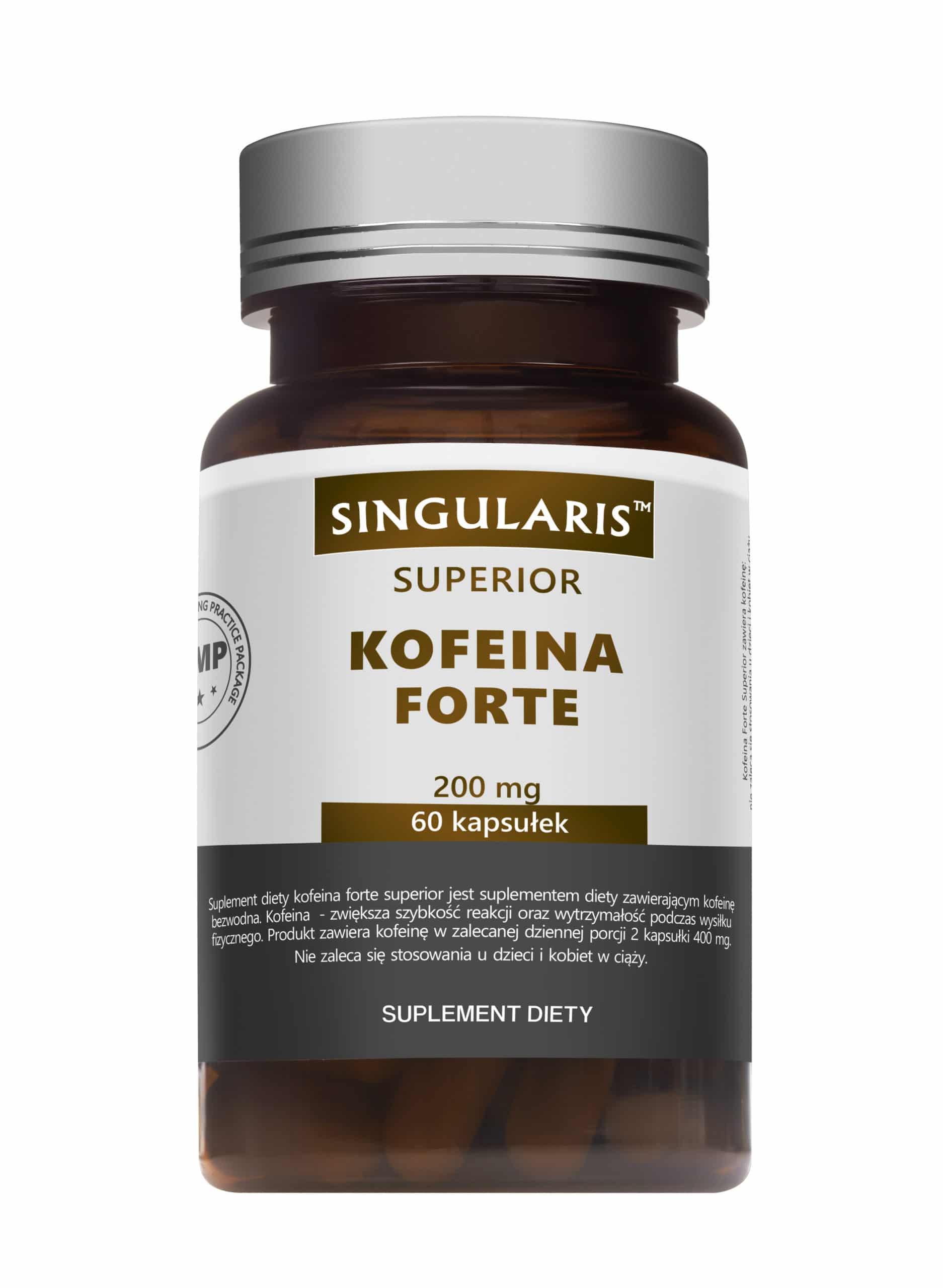 KOFEINA FORTE 200 mg SINGULARIS® SUPERIOR - 60 kapsułek