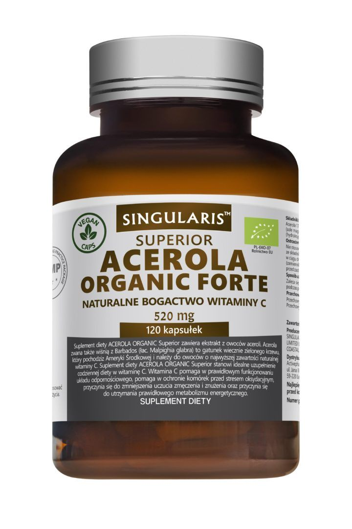 ACEROLA ORGANIC FORTE  520mg - 120 kapsułek wegańskich