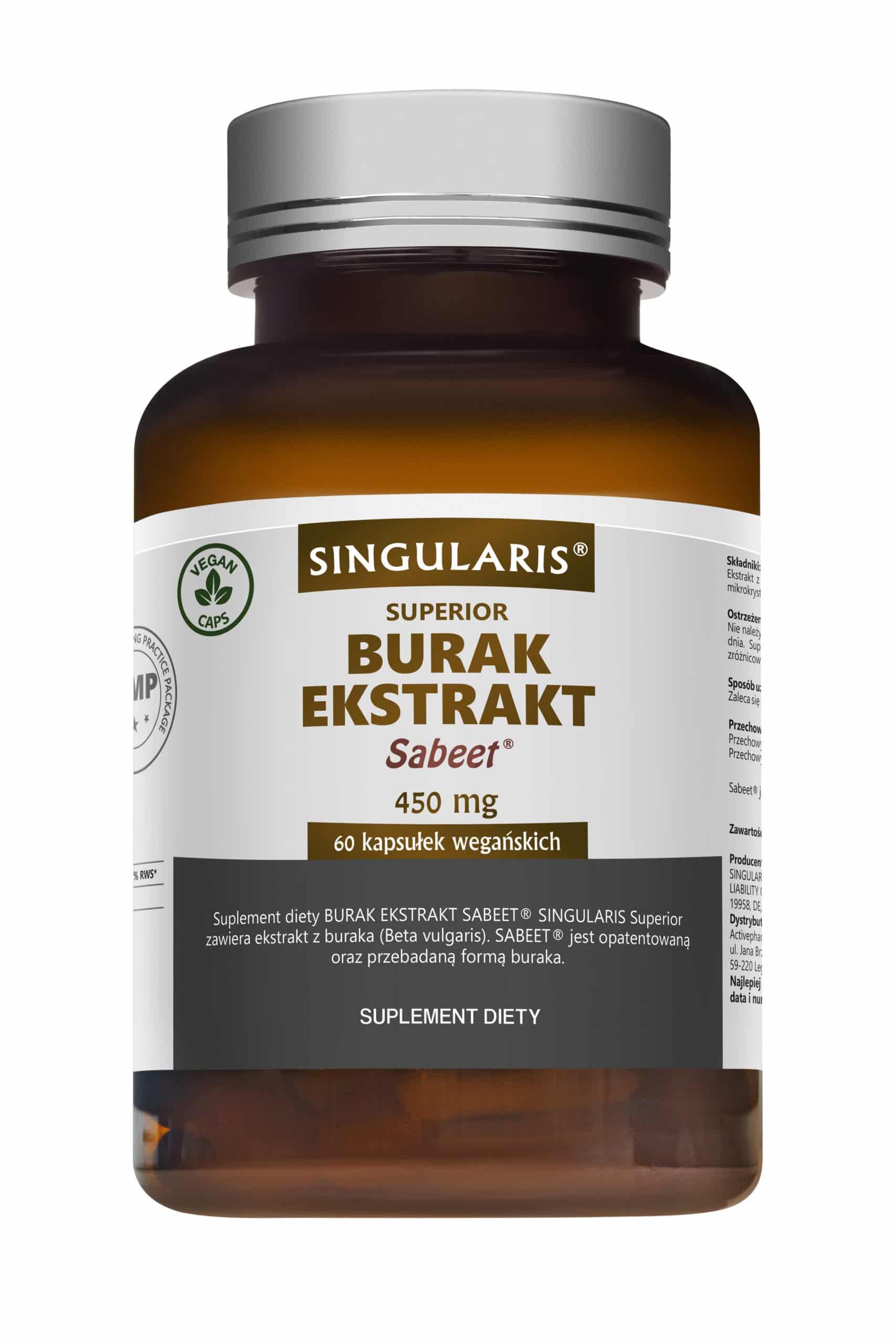 BURAK EKSTRAKT SABEET® 450 mg SINGULARIS® SUPERIOR - 60 kapsułek wegańskich