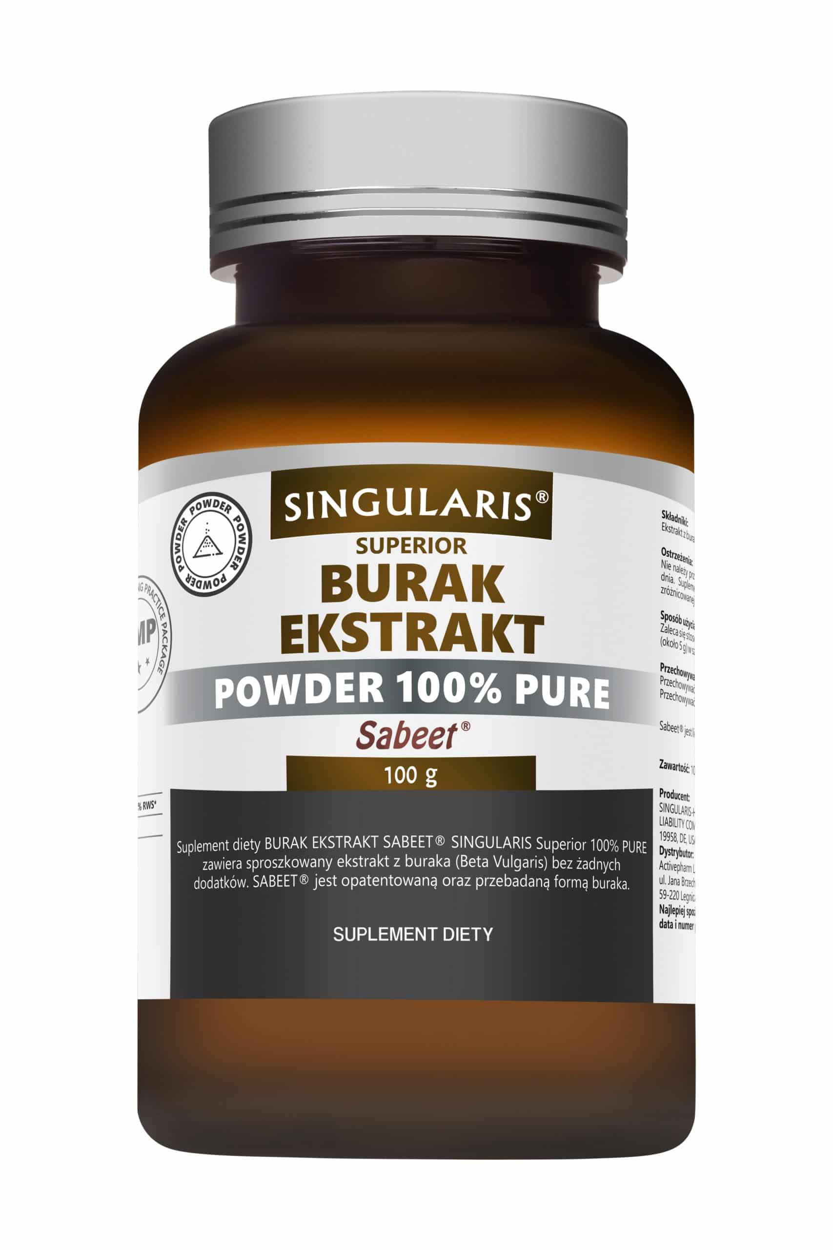 BURAK EKSTRAKT SABEET® POWDER 100% PURE SINGULARIS® SUPERIOR - 100g