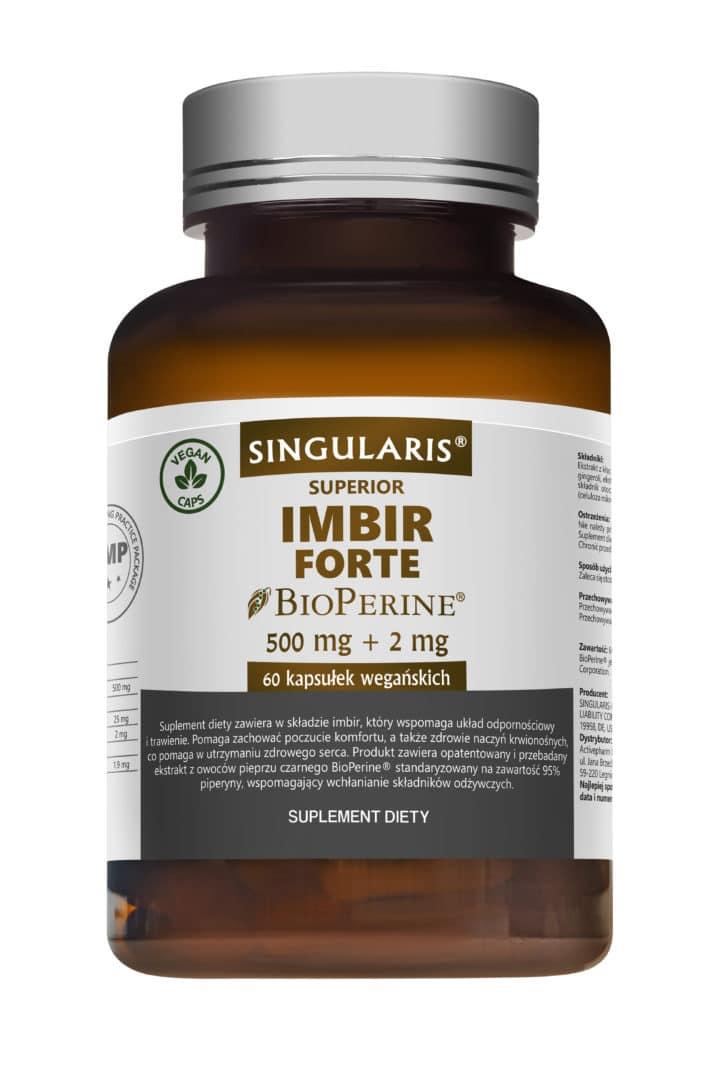 IMBIR FORTE SINGULARIS® SUPERIOR - 60 kapsułek wegańskich