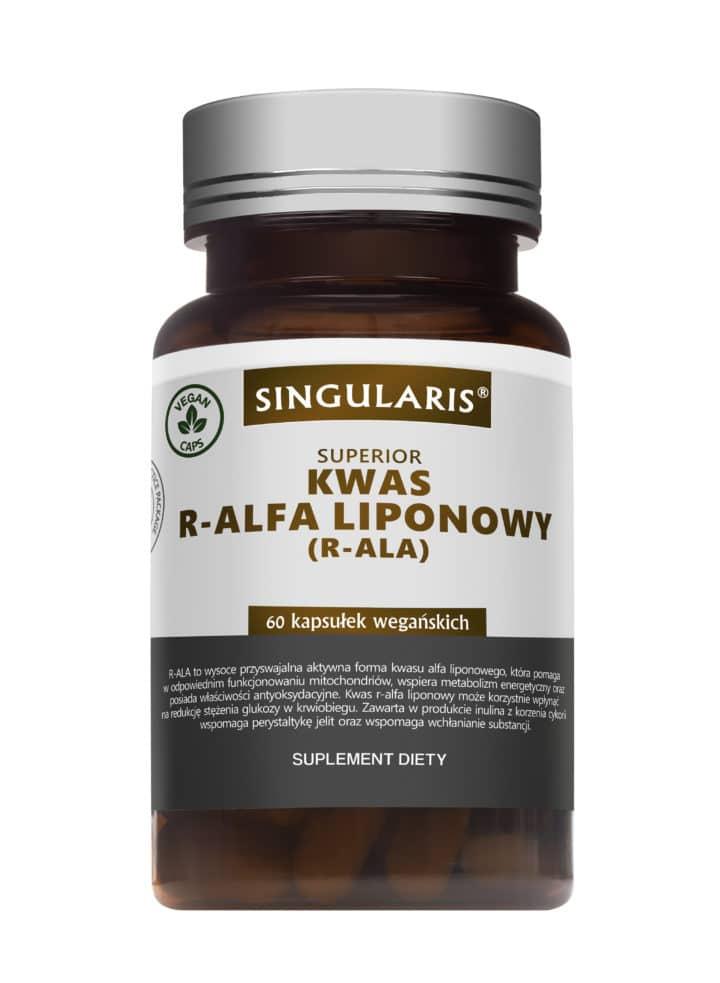 KWAS R-ALFA LIPONOWY (R-ALA) SINGULARIS® SUPERIOR 60 kapsułek wegańskich