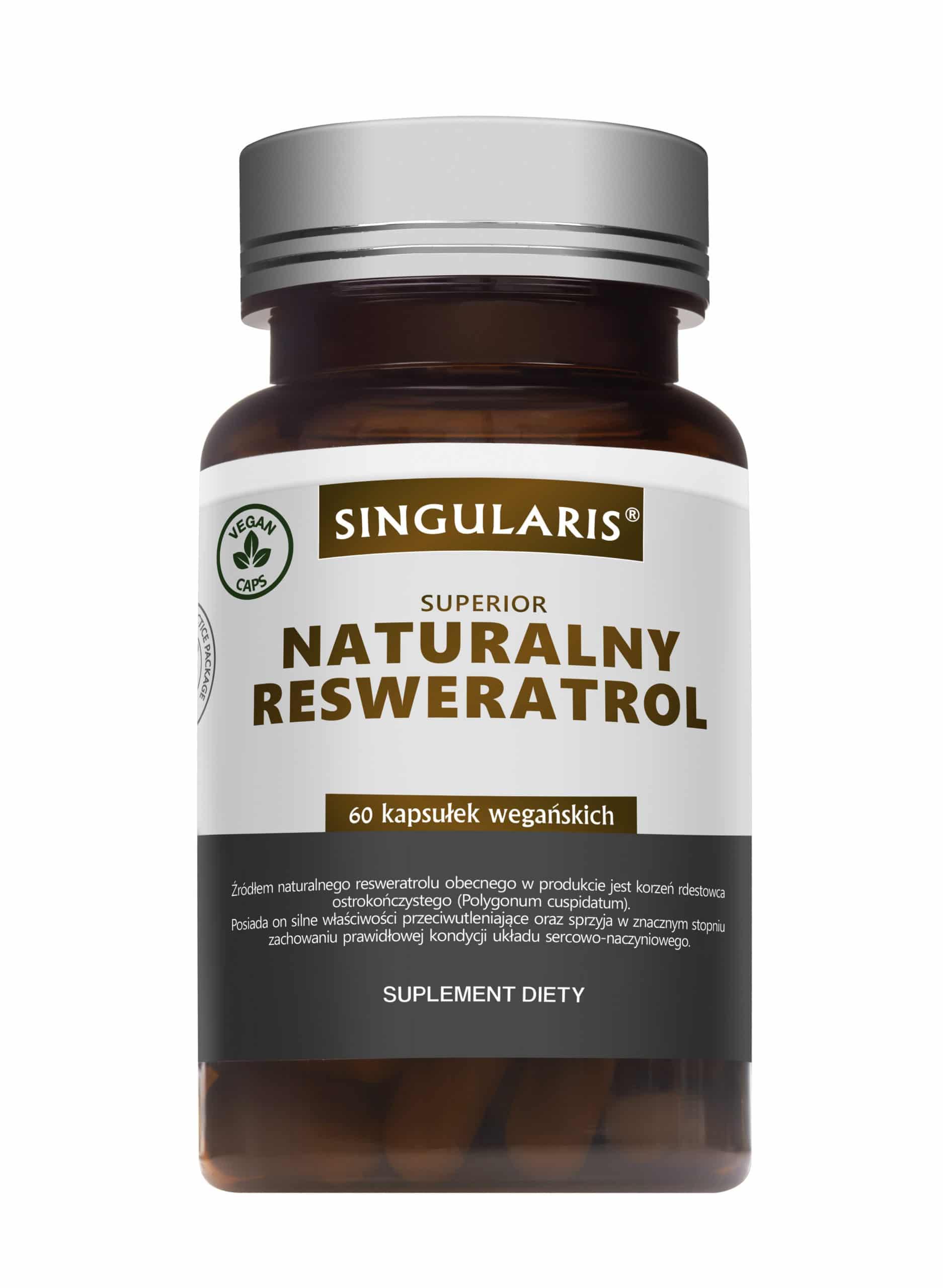 NATURALNY RESWERATROL SINGULARIS® SUPERIOR - 60 kapsułek wegańskich