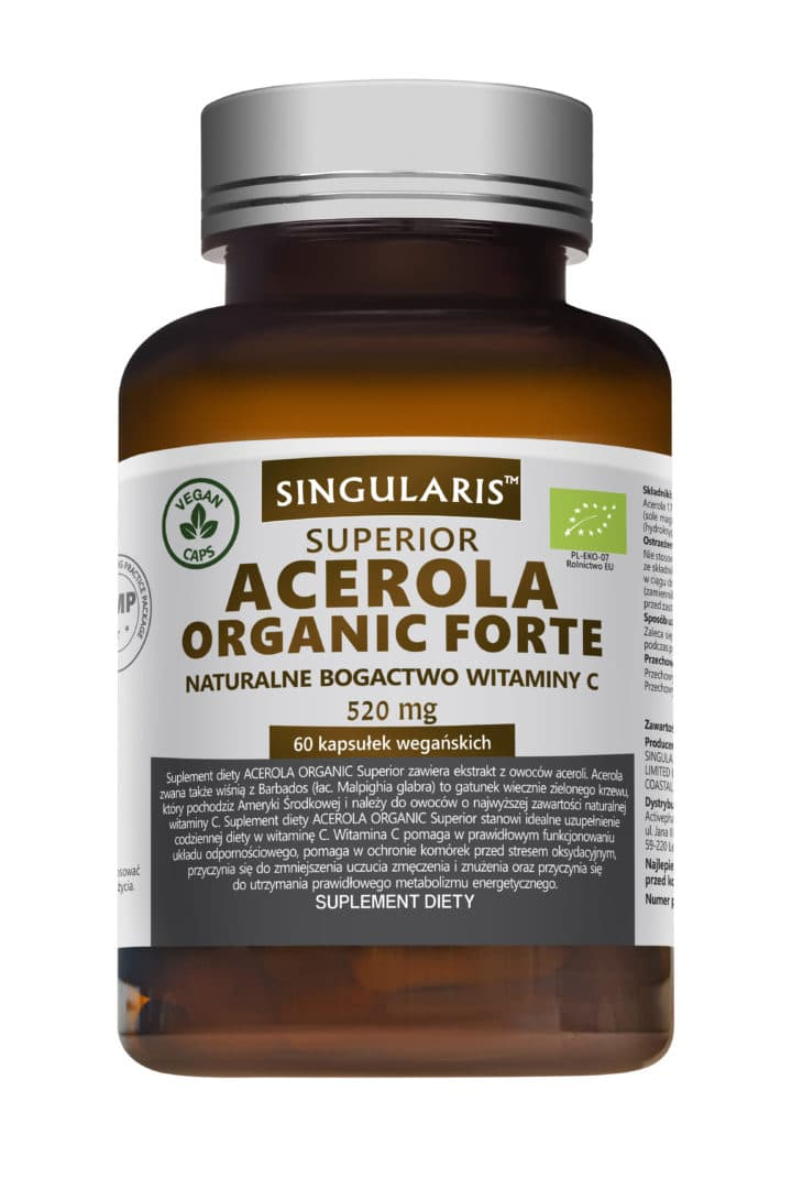 ACEROLA ORGANIC FORTE  520mg - 60 kapsułek wegańskich